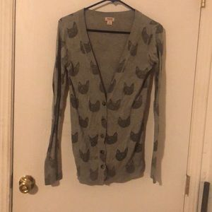 Junior's Mossimo cat cardigan